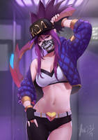 Kda akali by YaeGraam