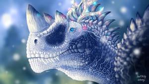 Frosty ceratosaurus (primal carnage fanart)