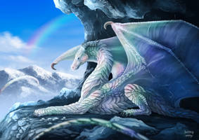 Iridescent dragon commission