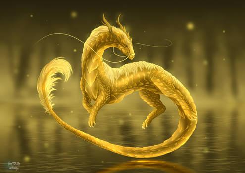Gold Dragon commission