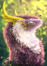 Spellwind dragon commission (flight rising)