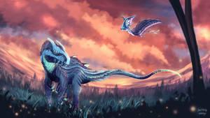 Biolumin Allosaurus and Tupandactylus
