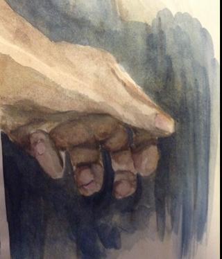 DA hand by TheBlu3Giraffe