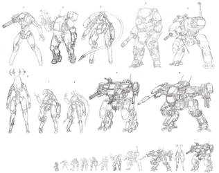 machine sketches by ragingcephalopod