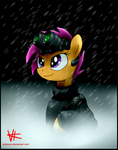 Scootaloo in the rain.