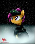 Scootaloo in the rain.