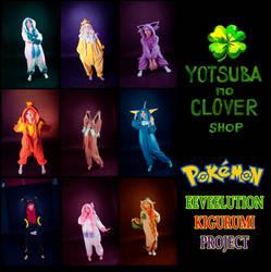 Pokemon ALL EEVEELUTIONS Kigurumis by HachimitsuToOkami