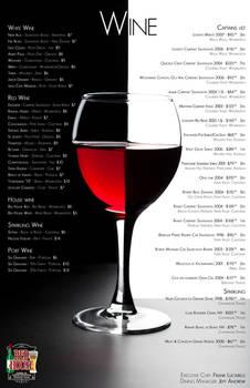 Red House - Wine Menu