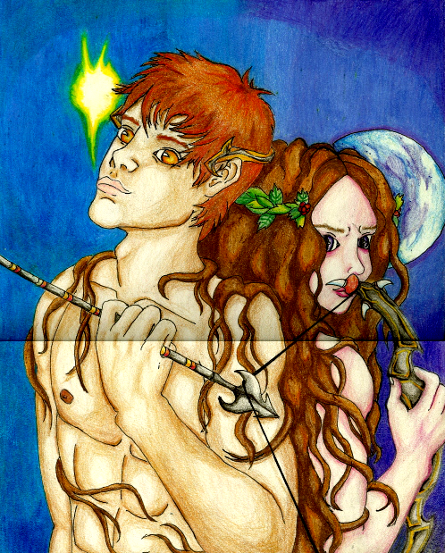 Famous Line Of Artemis : Artemis and apollo the hunt by abitofun on deviantart