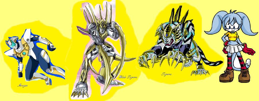 Runo and Tigrerra and Aerogan Bakugan Aerogan