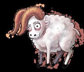the sheep by Kshsha