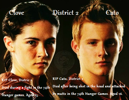 RIP Cato and Clove. by RACEofLIFE on DeviantArt