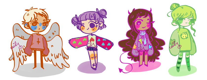 special ed. sweater adopts - set price - CLOSED by emasculation