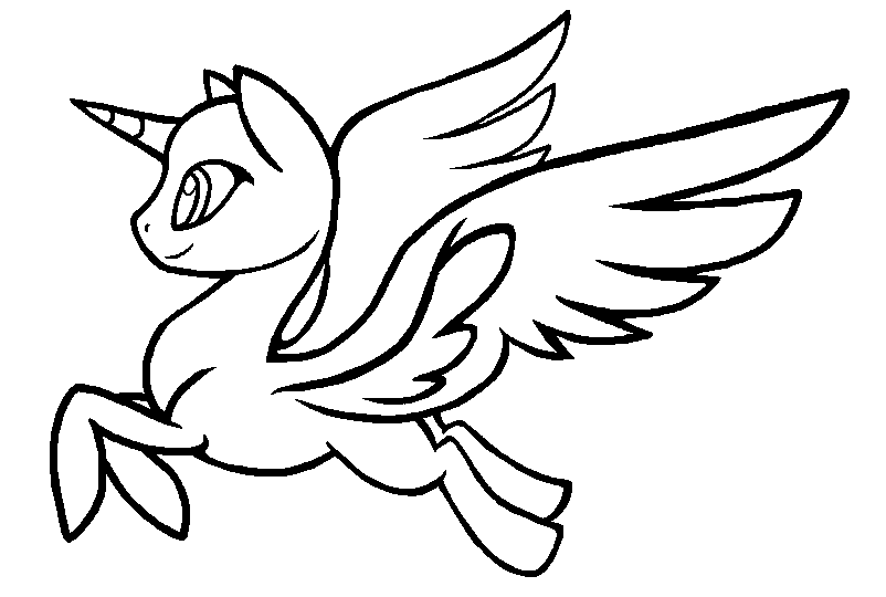 My Little Pony Alicorn Coloring Pages : Alicorn base by nemmikins on deviantart