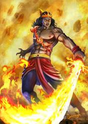 Agneya Astra Flame sword by Ommega