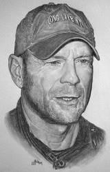 Bruce Willis Portrait by M41C0N