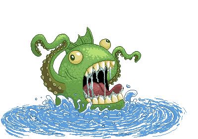 Lake monster Zeh by DeJotaK
