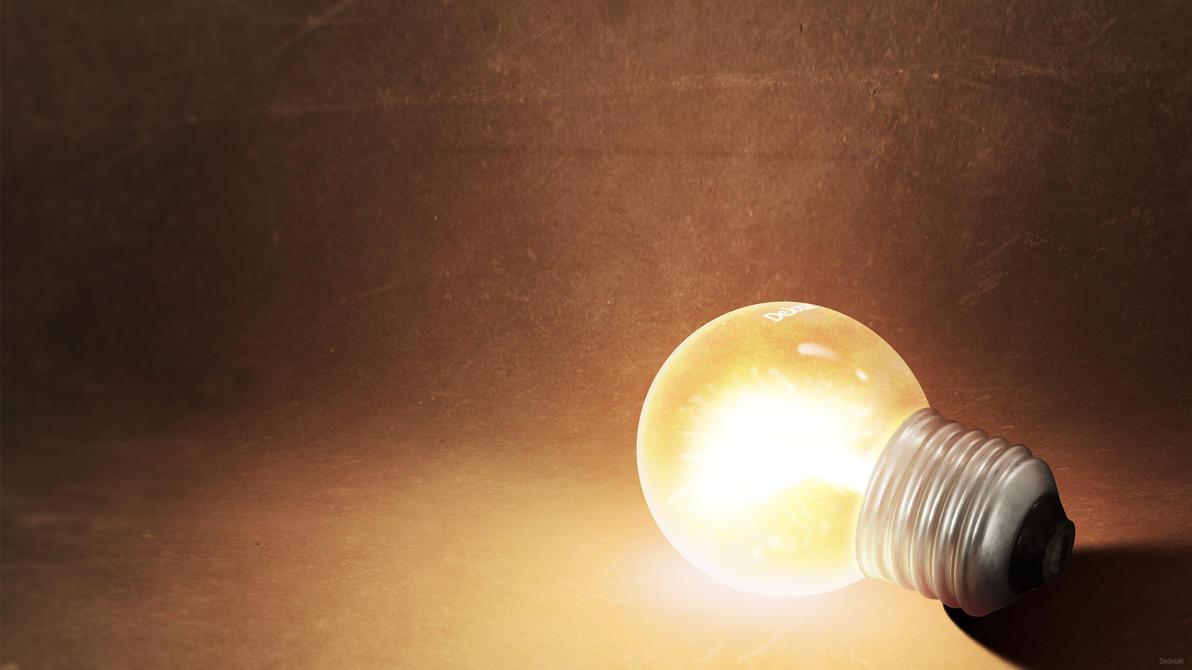 I had an idea - wallpaper by DeJotaK on DeviantArt for Idea Light Bulb Wallpaper  156eri