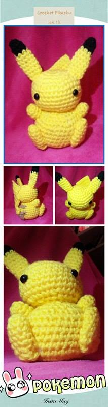 Amigurumi Pokemon Instructions : Crochet Pikachu Amigurumi (Pokemon) by Yuninachan on ...