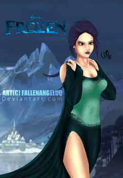 Dark Elsa Frozen Illustration by Umair Qayyum