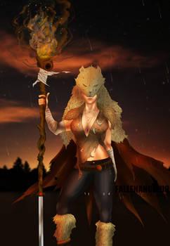 Wolf Girl illustration