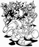 Hedgehog Havoc inked