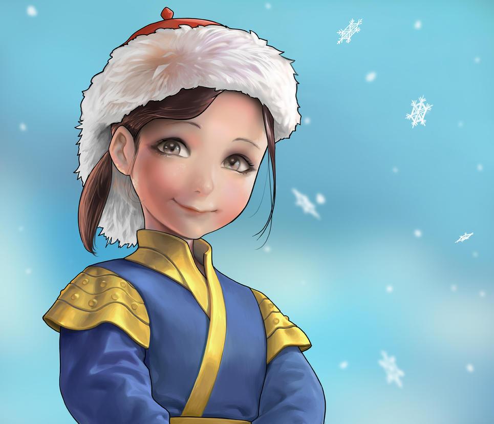 Mongolian children by Sinobilante
