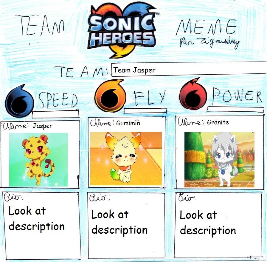 Sonic Heroes Meme Team Jasper By Penelopehamuchan On