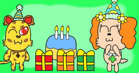 Happy Birthday, Jasper and Prase! by SuperAwesomeHamtaro