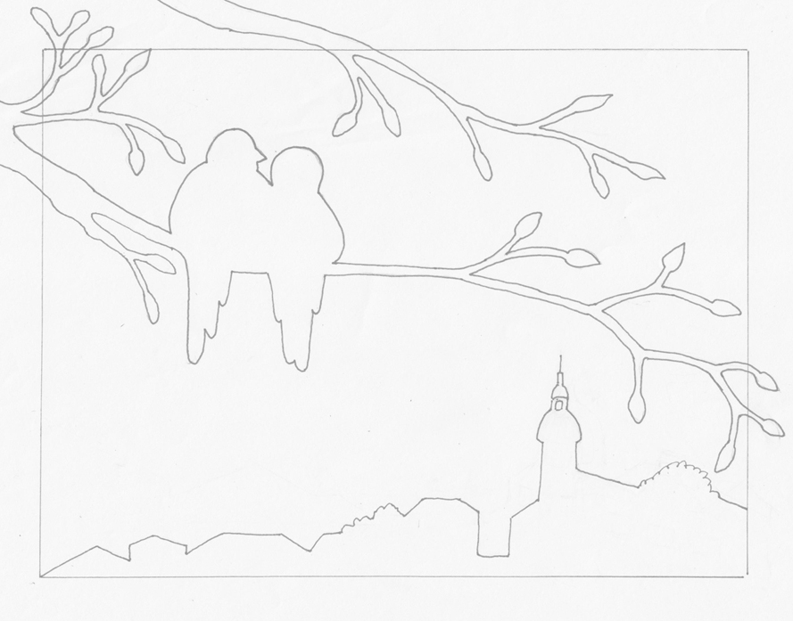 Love Birds Outline by Alina-Kurbiel on DeviantArt