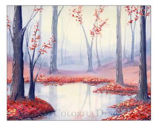 Autumn Forest by Alina-Kurbiel