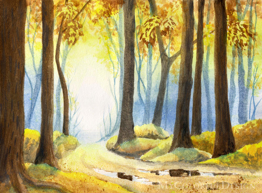 Autumn Forest 1 by Alina-Kurbiel