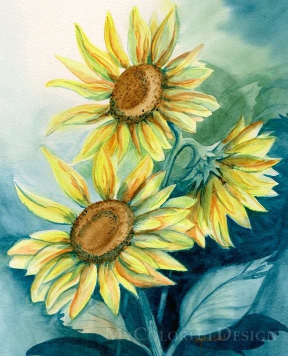 Sunflowers by Alina-Kurbiel