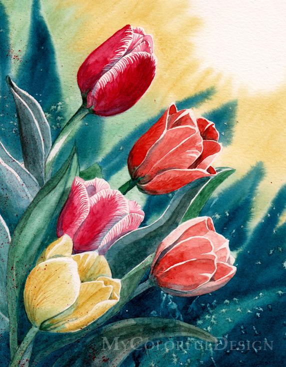 Tulips by Alina-Kurbiel