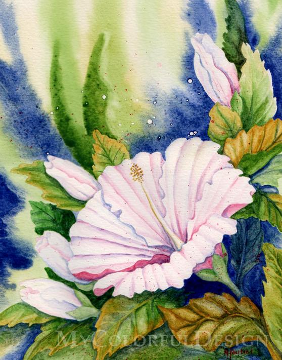White Hibiscus by Alina-Kurbiel
