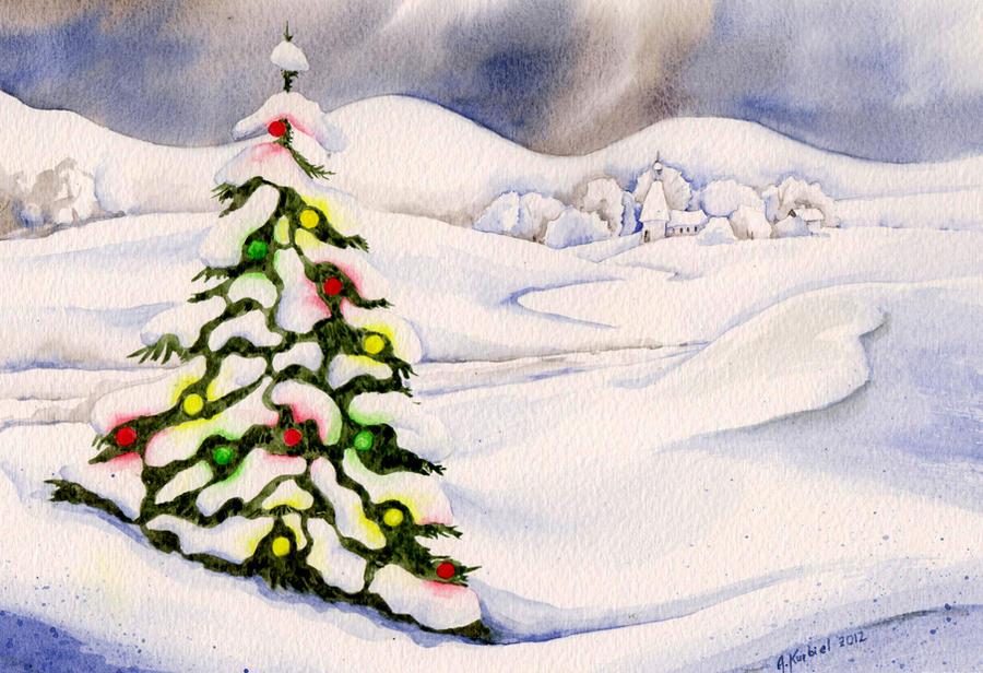Christmas Tree by Alina-Kurbiel