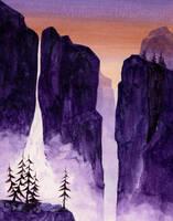 Waterfall in Watercolor by Alina-Kurbiel