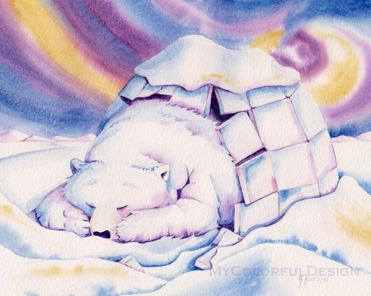 Igloo Bear by Alina-Kurbiel