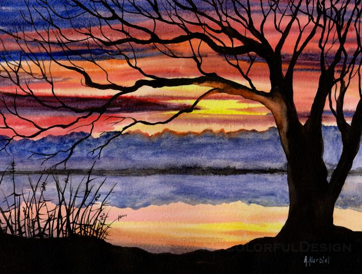 Tree Silhouette by Alina-Kurbiel