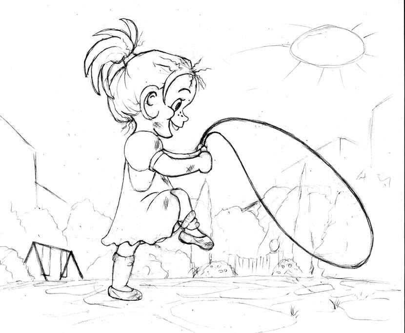 Little Jeanie - sketch by Dusty-Feather