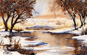 Snow and Mud by Alina-Kurbiel