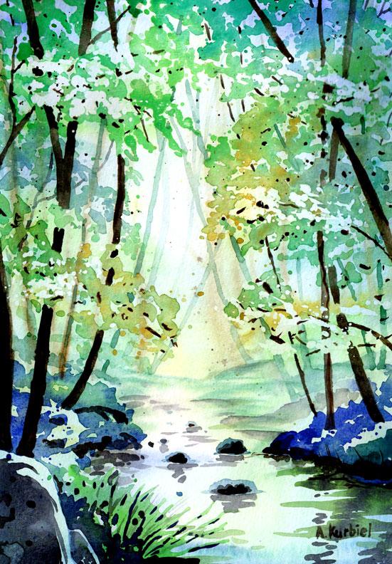 Forest by Alina-Kurbiel