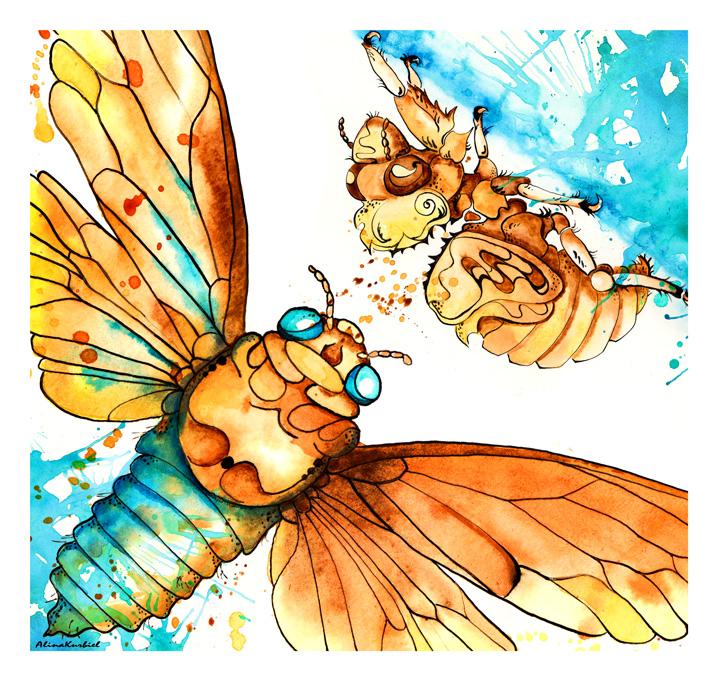Cicada by Alina-Kurbiel