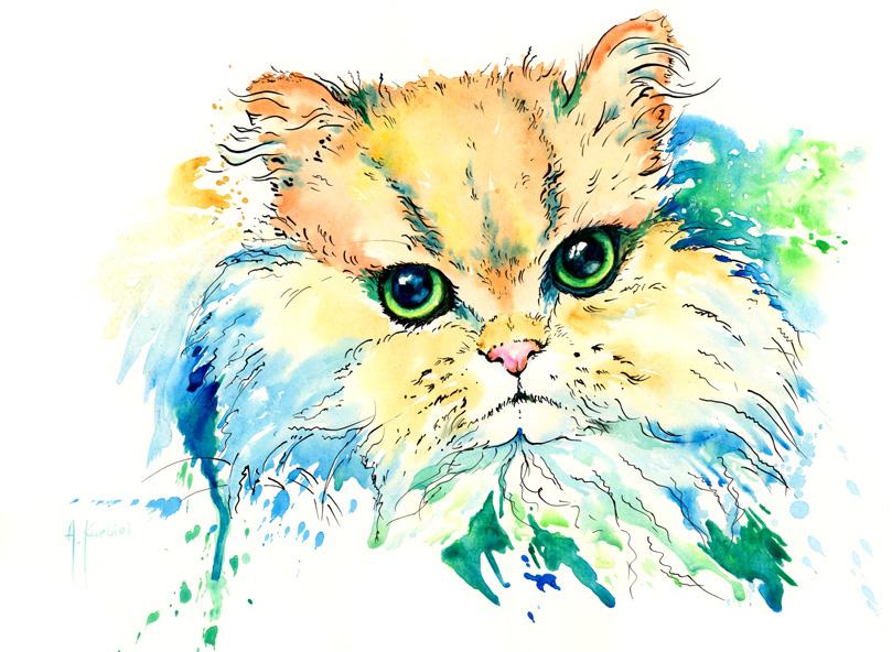 Gloomy Cat - Commission by Alina-Kurbiel