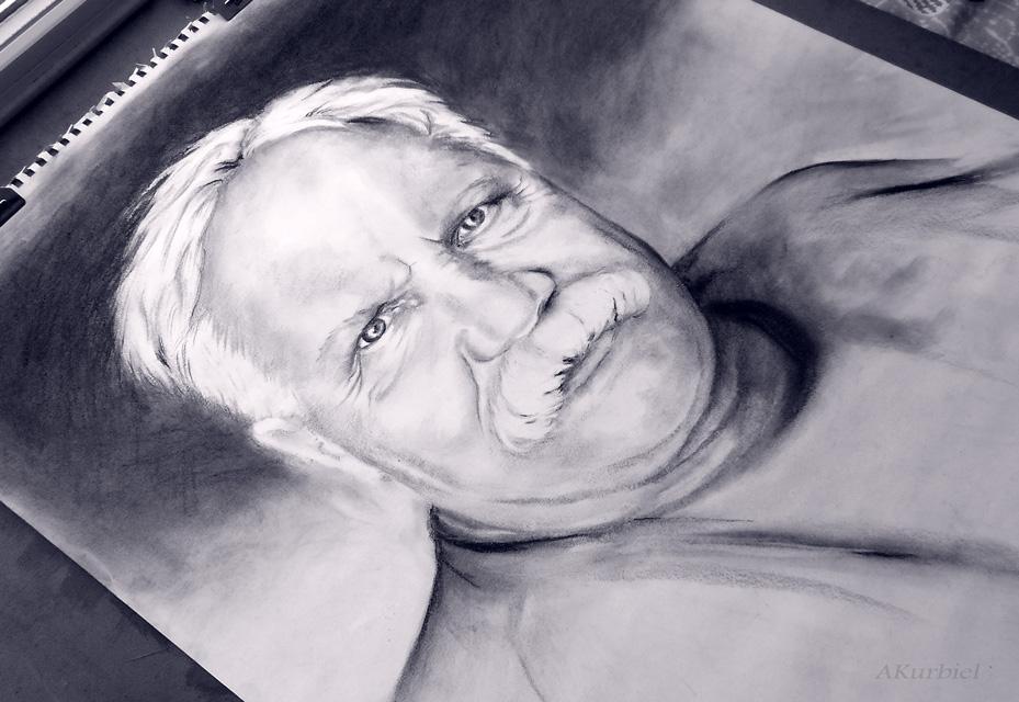 Mustache Man by Alina-Kurbiel
