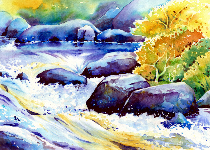Yosemite River by Alina-Kurbiel