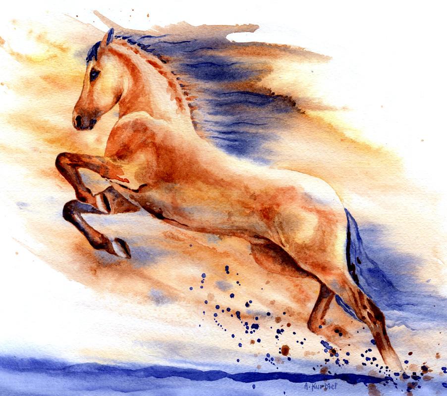 Horse by Alina-Kurbiel
