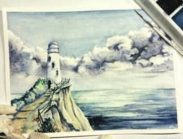 Lighthouse by Alina-Kurbiel