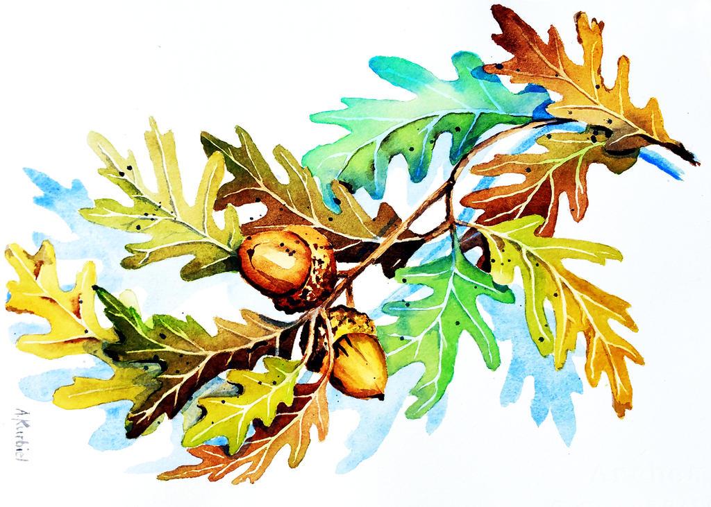 Autumn Oak by Alina-Kurbiel