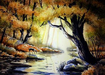 Going to the sun river by Alina-Kurbiel